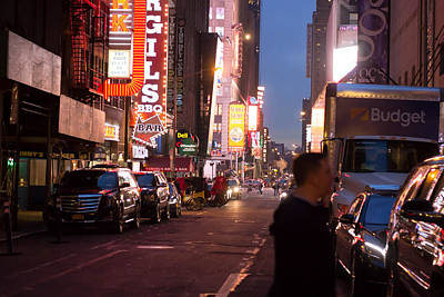 Road To Time Square  Art Print by Todd Williams