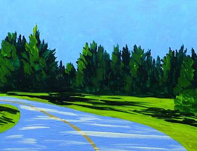 Maine Roads Painting - Road To Uma by Laurie Breton