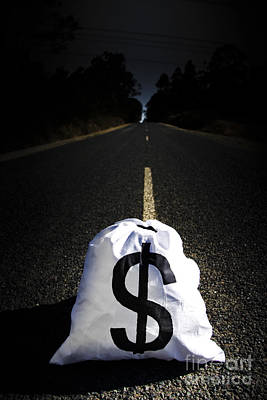 Asphalt Photograph - Road To Wealth And Financial Gain by Jorgo Photography - Wall Art Gallery