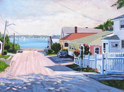 Road To Wessagussett Print by Laura Lee Zanghetti