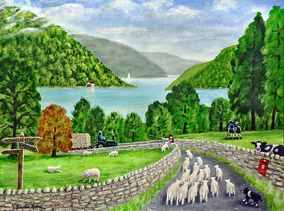 Sheep Painting - Road To Windermere by Ronald Haber