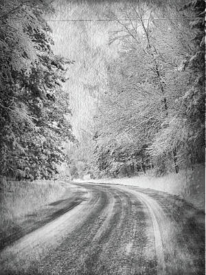 Photograph - Road To Winter by Angela King-Jones