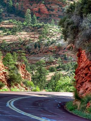 Photograph - Road To Zion by Jerry Sodorff