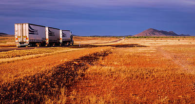 Photograph - Road Train To Somewhere - Central Australia by Lexa Harpell