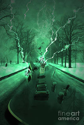 Electric Guitar Photograph - Road Trip Effects  by Cathy  Beharriell
