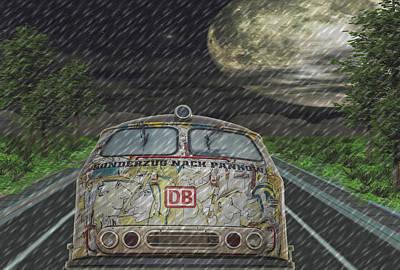 Digital Art - Road Trip In The Rain by Angela Hobbs