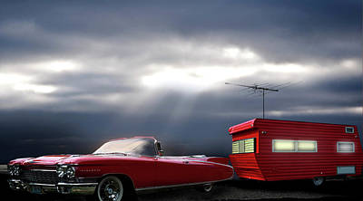Airstream Trailer Photograph -  Road Trip by Larry Butterworth