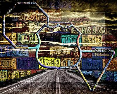 Digital Art - Road Trip by Mike Braun