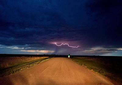 Art Print featuring the photograph Road Under The Storm by Ed Sweeney