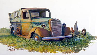 Road Warrior Retired Art Print by Bob  Adams
