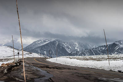 Photograph - Road Way Over The Mountains In Rocky Mountain National Park by Randall Nyhof