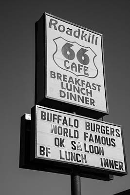 Photograph - Roadkill Cafe Route 66 Sign by John McGraw