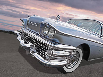 Fifties Buick Photograph - Roadmaster At Sunset by Gill Billington