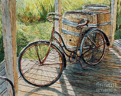 Painting - Roadmaster Bicycle 2 by Joey Agbayani