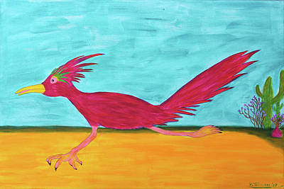 Painting - Roadrunner Hunter By Ken Tesoriere by Lyric Artists