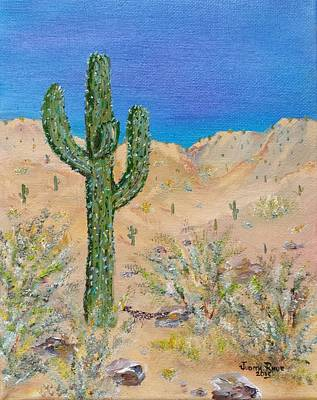 Painting - Roadrunner Pass by Judith Rhue