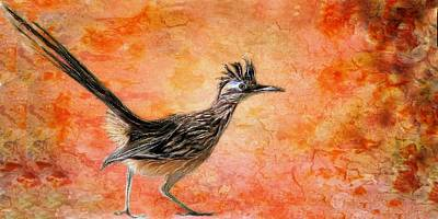 Las Cruces Painting - Roadrunner's Sunrise by Barbara Chichester