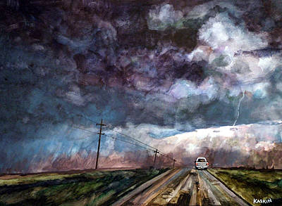 Painting - Roads End by Bradley Kaskin