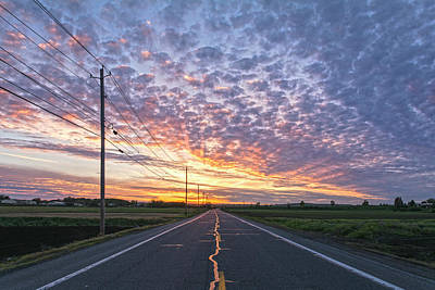Photograph - Roads Poles And Skies To Behold 3 by Angelo Marcialis