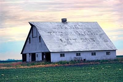 Roadside Barn - Gilman Illinois Print by Chrystyne Novack