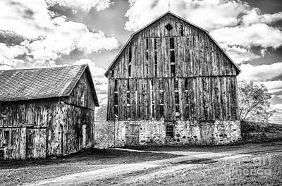 Photograph - Roadside Barns by Jim Rossol