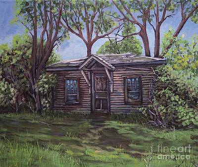 Painting - Roadside Cabin by Reb Frost