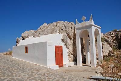 Photograph - Roadside Chapel On Halki Island by David Fowler