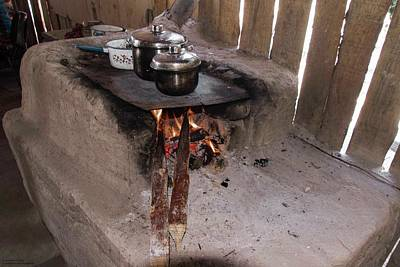 Photograph - Roadside Cooking - 1 by Hany J
