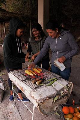 Photograph - Roadside Cooking - 2 by Hany J
