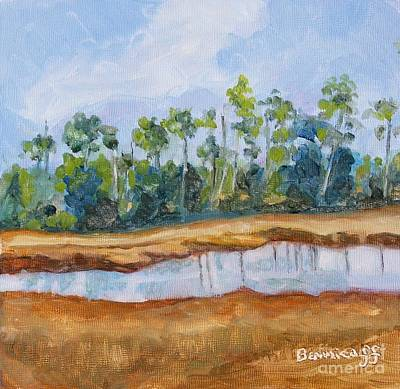 Painting - Roadside Florida by Jan Bennicoff