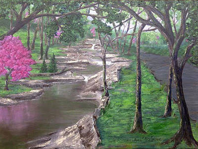 Painting - Roadside Park 1  by T Fry-Green