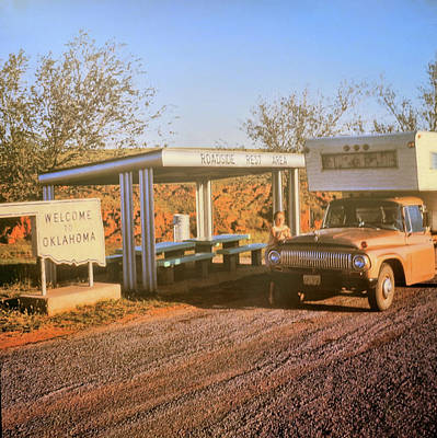 Photograph - Roadside Rest Area Circa 1970 by JAMART Photography