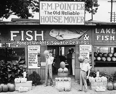 Watermelon Photograph - Roadside Stand Near Birmingham, Alabama by Edward Fielding