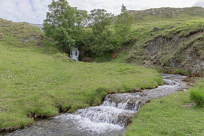 Photograph - Roadside Waterfall 0992 by Teresa Wilson