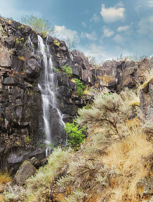 Photograph - Roadside Waterfall by Angie Vogel