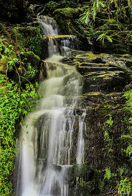 Photograph - Roadside Waterfall by Burland McCormick