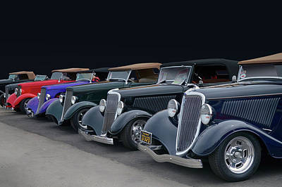 Photograph - Roadster Row by Bill Dutting