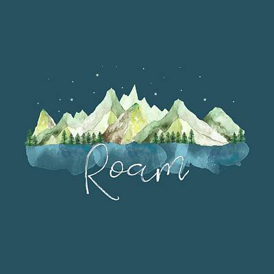Mountains Digital Art - Roam by Heather Applegate