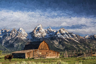 Mountain Digital Art - Roaming The Range II by Jon Glaser