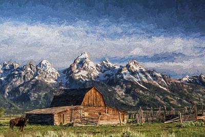 Teton Digital Art - Roaming The Range II by Jon Glaser