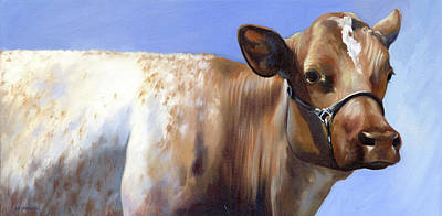 Painting - Roan Cow by Alecia Underhill
