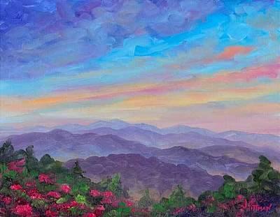 Smokey Mountains Painting - Roan Mountain Rhododendron by Jeff Pittman