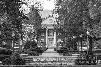 Administration Building Roanoke College Print by University Icons