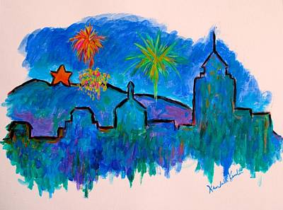 Painting - Roanoke In Blue by Kendall Kessler