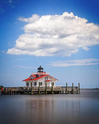 Photograph - Roanoke Marshes Light by Alan Raasch