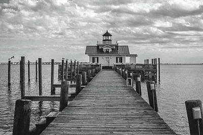 Photograph - Roanoke Marshes Light by David Sutton