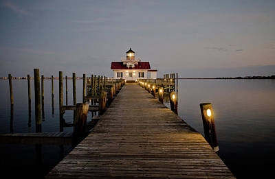 Photograph - Roanoke Marshes Lighthouse by David Sutton