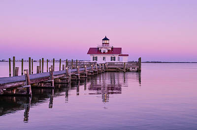 Photograph - Roanoke Marshes Lighthouse  by Joe Ormonde
