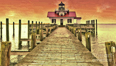 Roanoke Marshes Lighthouse Art Print by Lydia Holly