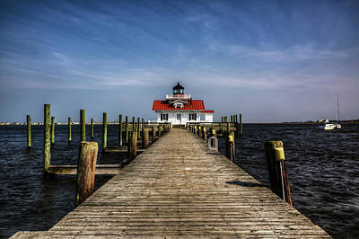Photograph - Roanoke Marshes Lighthouse by Pete Federico